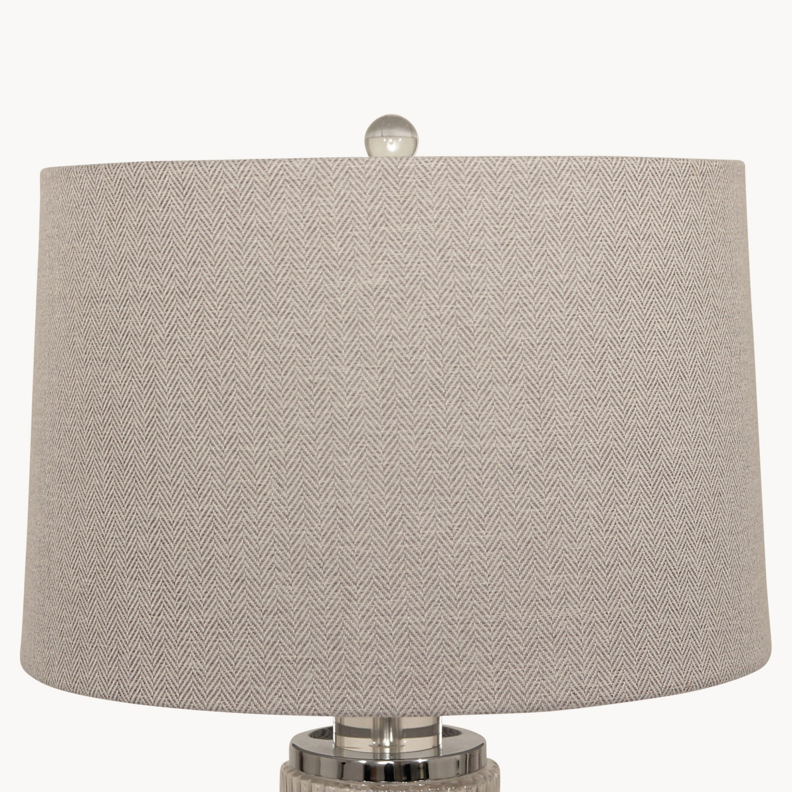 Metal glass cylinder table lamp with grey shade grey goose clifton metal amp glass cylinder table lamp with mozeypictures Choice Image